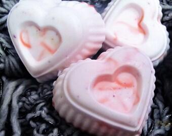Shea butter heart soap