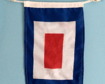 W Nautical Signal Flag Boat Flag