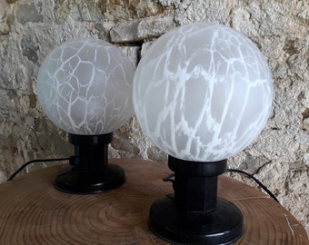 Vintage Mid Century Nigth Lamps Bedside Lamps from the 70s