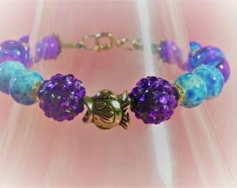 Blow Fish Charmed  Bracelet