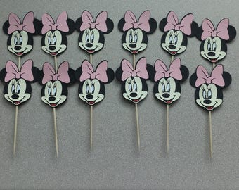 Minnie Mouse Cupcake toppers pack of  24