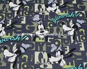mi268 - 1 Yard SDLP Cotton Woven Fabric - Cartoon Characters, Goofy - Gray (W140)