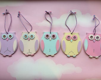 Twinkly Hanging Owls