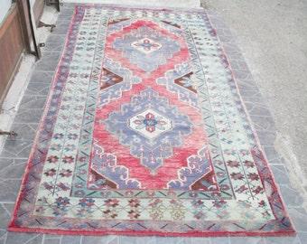 Kilim Rug  Vintage Turkish Kilim Rug Turkish rug Kilim Rug Turkish kilim rug     9.5 x 4.3 feet    code  e:82 FREE SHIPPING