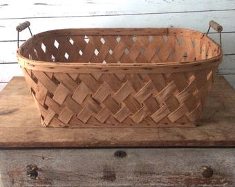 Antique Vintage Large Basket