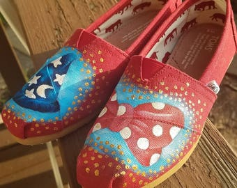 Custom Toms Disney Acrylic Painting