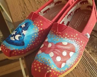Custom Toms Disney Acrylic Painting