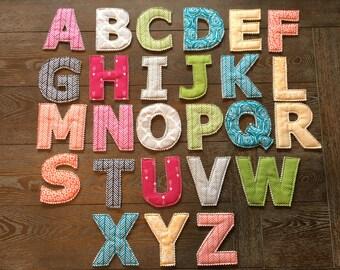 Fabric Letters - Full Alphabet - Multi Patterned Full Spectrum
