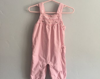Janie and Jack Infant Girls  3-6 month corduroy overalls