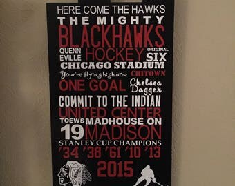 Chicago Blackhawks Subway Sign