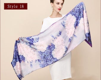 Scarf For Women, 100% Silk Satin Women Scarf,