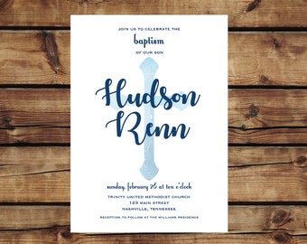 Baptism / Blessing / Christening Printable Invitation