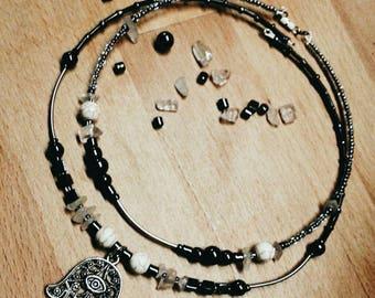 """Memory wire choker necklace """"Urtu & Tamitu"""""""