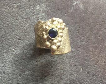 Sterling Silver & Iolite Ring