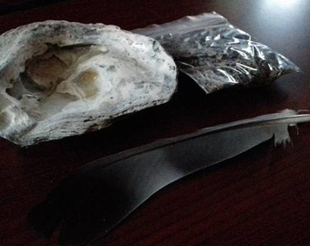 Smudging Set - meditation incense witchcraft witch druid shaman pagan wiccan spirituality