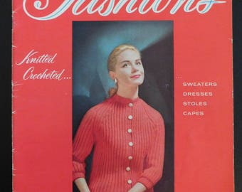 Vintage Knitting Crochet Patterns Star Book No. 125 Fashions by American Thread Co. 50's
