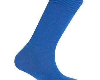 Socks color blue-198