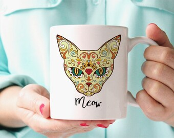 Cat Coffee Mug - Unique Cat Coffee Cup - Gift For Cat Lover