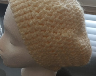 Cream color slouchy hat