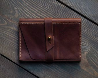 Leather Passport Holder, Travel Document, Passport cover, Travel Organiser, Cognac, FREE MONOGRAM
