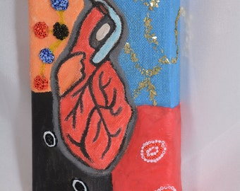 My Heart Drawing on Canvas