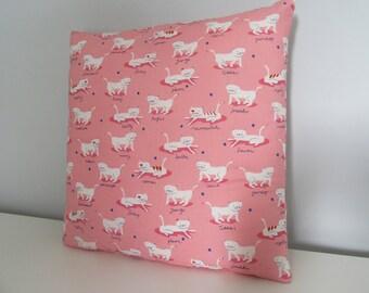 Handmade Cat Print Cushion Cover