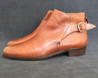 Vintage Bruno Magli Handcrafted Italian Leather Ankle Boots Size 10