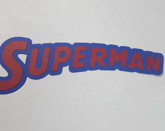 Superman Title, DC comics, Die cut, paper piecing for scrapbooking