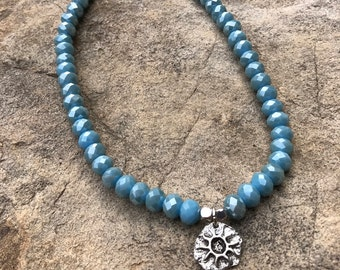 Light Blue Sun Choker