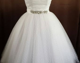 "Rockabilly 50 - 60s petticoat wedding gown wedding dress ""Elenor"""