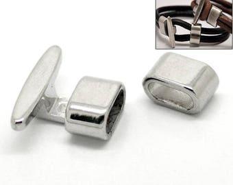 5 locks, lock, hook lock, jewelry clasp, bracelet, silver, 17967