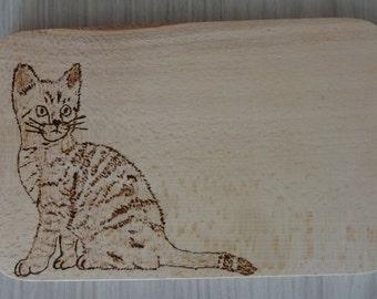 Vesperbrett cutting board wood pyrography gift