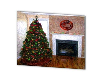 "Limited Edition ""Christmas Lodge"" - Blue Ribbon Winner - Artistic Photography Canvas Print - 10% of Proceeds for Charity"