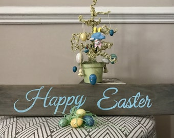 Happy Easter pallet plank sign