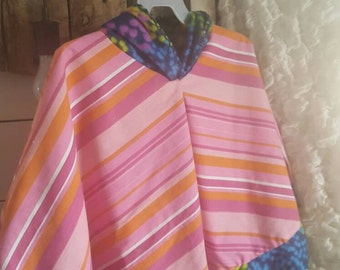 "Girls Hooded Fleece lined Poncho Cloak ""Mikayla"""