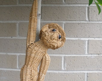 Cane Retro Vintage Hanging Monkey