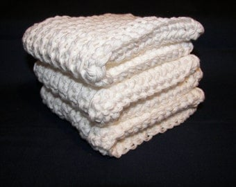White Cotton Dishcloths