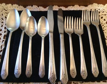 "Sweetheart Silver Plate Set - ""Imperial"" by International Rogers, 1939"