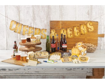 Cheers and Beers Party Banner/ Beer Party Banner/ Beer Theme Banner/ Beer Birthday Party Supplies