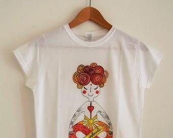 Yoga t-shirt Be infinite-red & yellow version