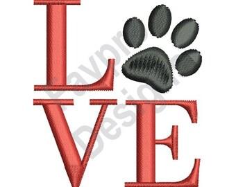 Love Puppy - Machine Embroidery Design