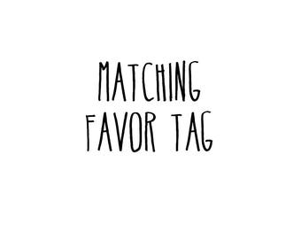 Matching Favor Tag For Your Baby Shower Bridal Shower Wedding Birthday Event