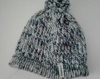 Cap child blue, grey and white tones