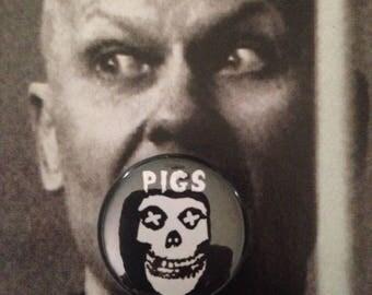 Pigsfits pinback button