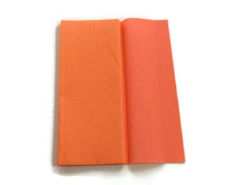 Gloria Doublette Crepe paper / Double sided crepe paper ideal for making paper flowers - Salmon & Light Rose - 10 sheets
