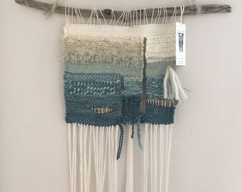 Woven wall hanging/SEA GLASS