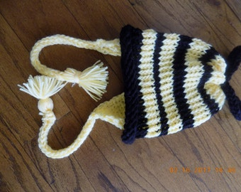 Bumble Bee Hat with Ear Flaps