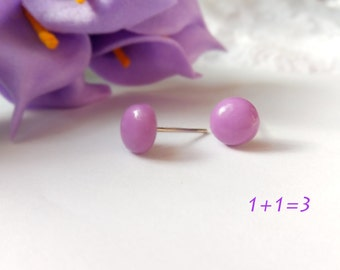 Tiny lilac earrings lilac stud earrings Kawaii earrings Kawaii stud earrings Minimalist earrings Minimalist stud earrings Gift for girls
