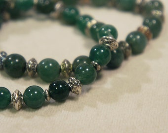 Genuine Green Aventurine Bracelet Semi Precious Stone Gemstone Healing Crystal Chakra Metaphysical Gift