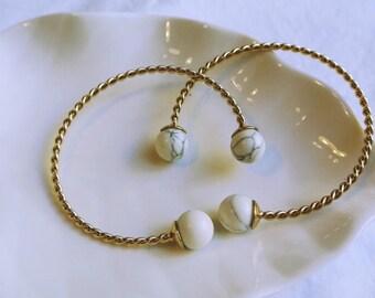 Gemstone Bracelet,Crystal Jewelry, Stone Bracelet, Aquamarine Bracelet.